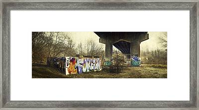 Under The Locust Street Bridge Framed Print
