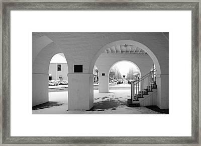 Under The Market House In Snow - Fayetteville Nc Framed Print by Matt Plyler