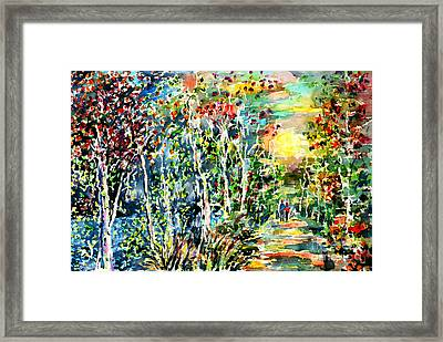 Under The Moon Of Rebirth Framed Print