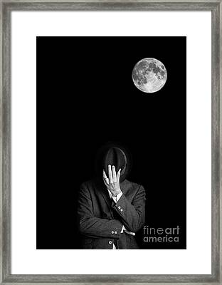 Under The Moonlight The Serious Moonlight Framed Print
