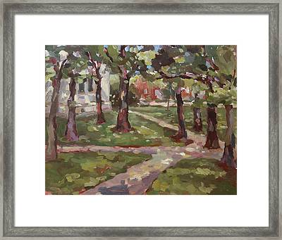 Under The Oaks Framed Print by Jenny Anderson