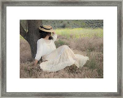 Under The Old Appletree Framed Print