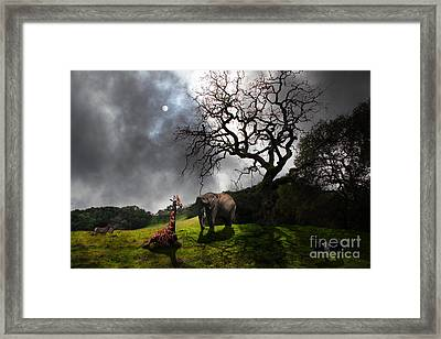 Under The Old Oak Tree - 5d21097 - Horizontal Framed Print by Wingsdomain Art and Photography