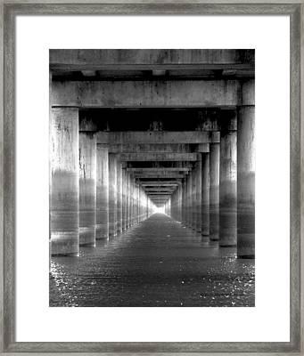 Under The Overpass Framed Print