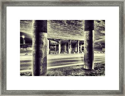 Under The Overpass Framed Print