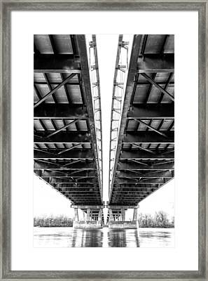 Under The Page Bridge Framed Print by Bill Tiepelman