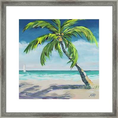 Under The Palm's Breeze I Framed Print