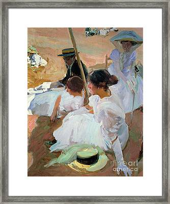 Under The Parasol Framed Print