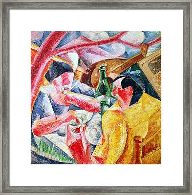 Under The Pergola At Naples Framed Print by Umberto Boccioni