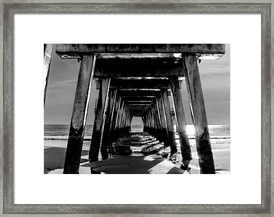 Framed Print featuring the photograph Under The Pier by Frank Bright