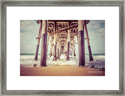 Under The Pier In Orange County California Picture Framed Print by Paul Velgos