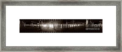 Under The Pier Framed Print by Ron Smith