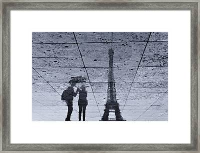 Under The Rain In Paris Framed Print