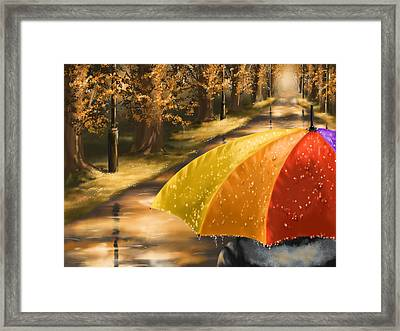 Under The Rain Framed Print by Veronica Minozzi