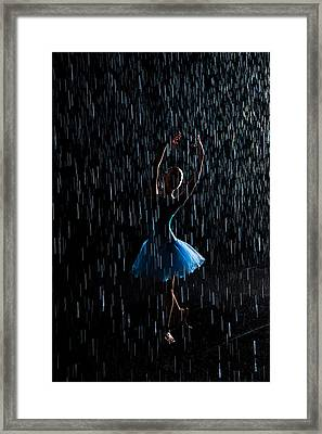 Under The Rain Framed Print
