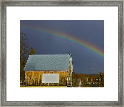 Framed Print featuring the photograph Under The Rainbow by Alice Mainville