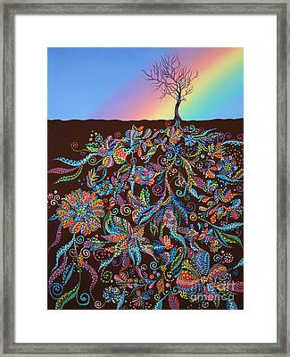 Under The Rainbow Framed Print