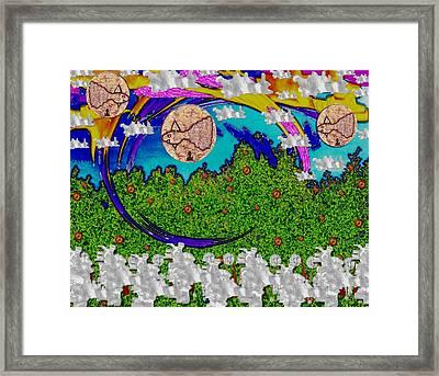 Under The Rainbow Pop Art Framed Print