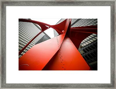 Under The Red Flamingo Framed Print