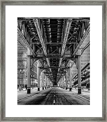 Under The Red Line Framed Print by Mike Burgquist