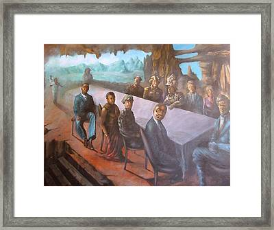 Under The Rock Framed Print by John Edwe