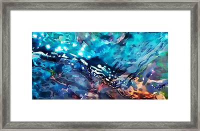 Under The Rocks Framed Print by Terril Heilman