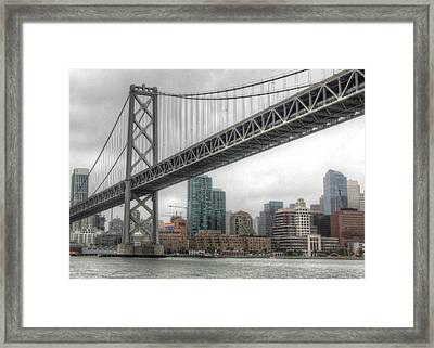 Under The San Francisco Bay Bridge Framed Print