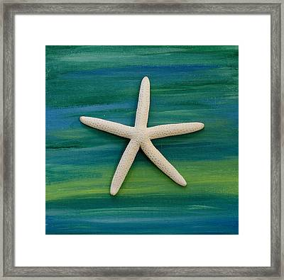 Under The Sea Framed Print by April Moran
