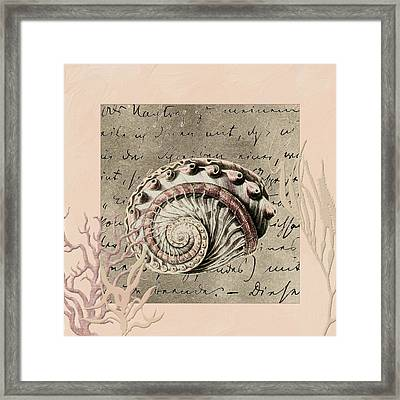 Under The Sea Framed Print by Bonnie Bruno
