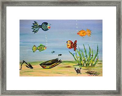 Framed Print featuring the painting Under The Sea by Debbie Baker