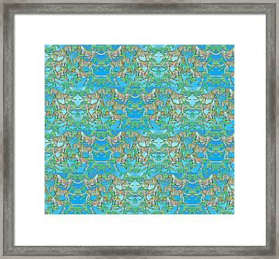 Under The Sea Horses Framed Print