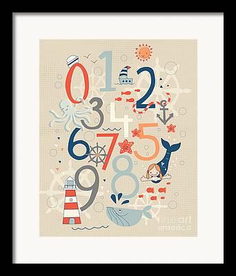Number Framed Prints