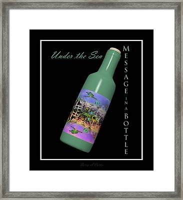 Under The Sea Message In A Bottle Framed Print