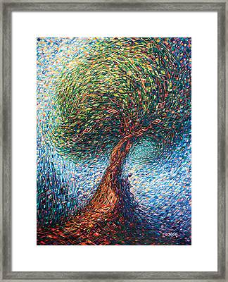 Under The Shade Framed Print by Eduardo Rodriguez