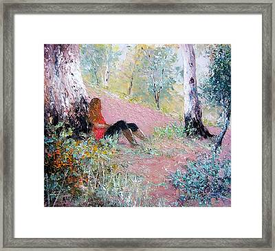 Under The Shade Of The Old Gum Framed Print