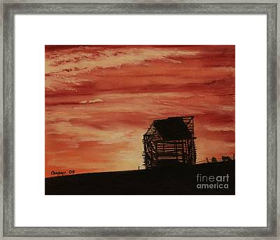 Framed Print featuring the painting Under The Sunset by Stanza Widen