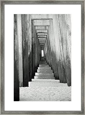Under The The Pier Framed Print by Thomas Fouch