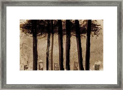 Under The Trees Framed Print