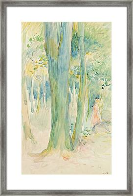 Under The Trees In The Wood Framed Print