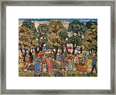 Under The Trees Framed Print by Mountain Dreams