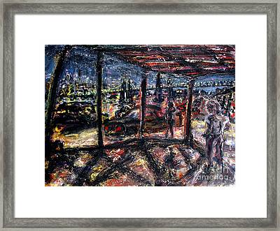 Under The Tressel On The West Side Framed Print by Arthur Robins