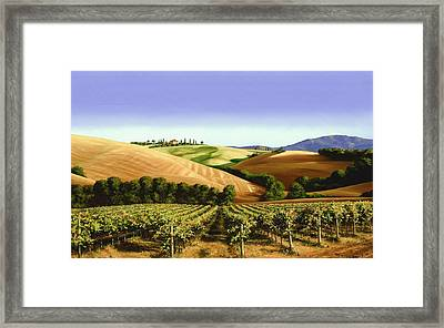 Under The Tuscan Sky Framed Print