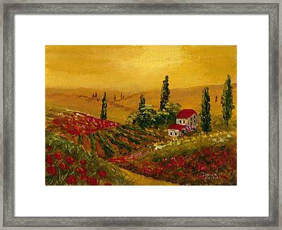 Under The Tuscan Sun Framed Print by Darice Machel McGuire