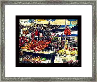 Under The Umbrellas Framed Print by Miriam Danar