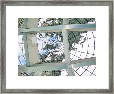 Under The Unisphere Framed Print by Ed Weidman