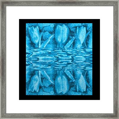 Under The Water Is Tulips Framed Print