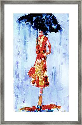 Framed Print featuring the painting Under The Weather by Steven Ponsford