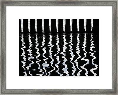 Under The Wharf 3 Framed Print
