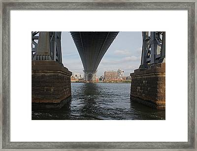 Under The Williamsburg Bridge Framed Print