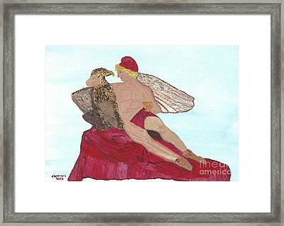 Under The Wings Of Love Framed Print